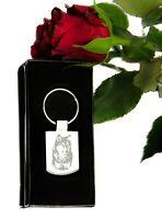 WOLF  - animal - engraved keyring BOXED Personalised - Keychain