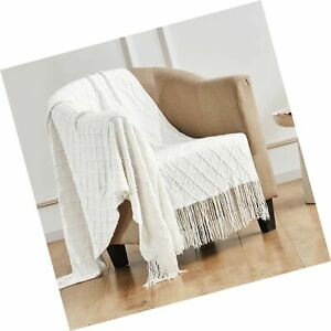 TOUCHAT Knitted Throw Blankets for Couch, Sofa and Bed, Lightweight Soft Knit...