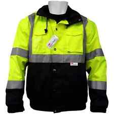 Hi Vis Jacket 5-in-1 Winter Bomber, Waterproof, Class 3, Sz:2XL, GLO-B1-2XL
