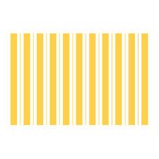 Tappeto in polipropilene dal design moderno giallo e fantasia a righe 120x180 cm