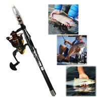 2.1M Fishing Rod Ultralight Carbon Fiber Telescopic Portable Sea Spinning Pole