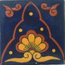 9 Mexican Tiles Wall Floor Use Talavera Mexico Ceramic Handmade Pottery C#071