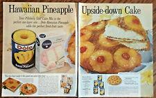 Dole pineapple ad 1961 original vintage 1960s print retro art food cake recipe
