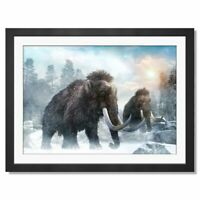 A3  - Extinct Woolly Mammoth Winter Framed Prints 42X29.7cm #16002
