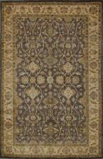 Traditional Hand Knotted Modern Chobi Area Rug Grey/Beige Persian Rugs (6 x 9)