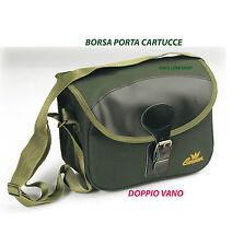 porta cartucce catana caccia tracolla rinforzata verde borsa cartuccera caccia