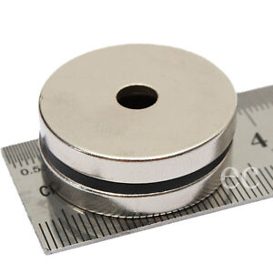 4pcs DIY Disk 30mm x 3mm With Hole 3mm Large Strong Neodymium Ring Hole Magnets