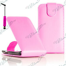 Accessory Case Cover Leatherette Stylus Pale Pink Samsung Wave Y S5380