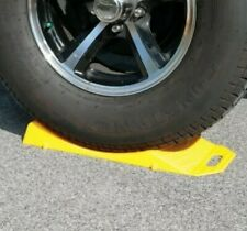RV Tire Cradles Set of 2 Yellow Plastic new Travel Trailer Casita Parking