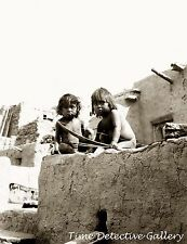 Two Hopi Indian Children with Bow & Arrows, Arizona -1908- Historic Photo Print