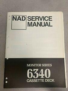 NAD 6340 Cassette Deck Service Manual