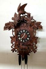 Huge 31 Inch Cuckoo Quail German Wall Clock--1885/1895--Great Label--MINT COND.