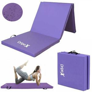 6FT Gymnastics Crash Floor Tri Folding Mat 5cm Thick Yoga Gym Exercise 3 Panel