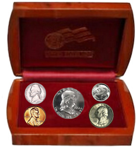 1949 UNCIRCULATED YEAR SET IN OFFICIAL U.S. MINT DISPLAY SILVER BIRTHYEAR COINS