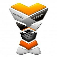 Motorcycle Tank Pad Protector Sticker   (Honda) Hrc Repsol Orange
