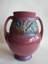 "Vintage Original Large Roseville Baneda 596-9"" Bulbous Vase. Beautiful Look!"