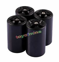 4 Pcs New Cell Battery Adaptor Converter Case AA to D Size Battery Holder Case