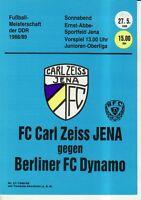 OL 88/89  FC Carl Zeiss Jena - BFC Dynamo Berlin, RS- A