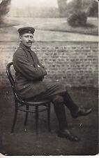 Soldat allemand assis  guerre 14-18 photo sur CPA lot 5