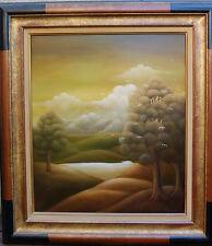 """Markovic   """"Paysage"""" huile sur bois 65 x54 encadré"""