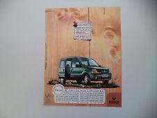 advertising Pubblicità 1998 RENAULT KANGOO PAMPA