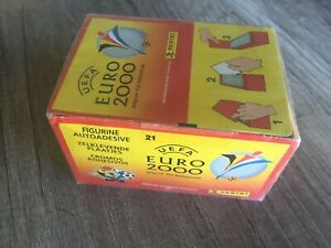 Panini Euro 2000 Sealed Box of 100 packets of stickers RARE