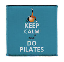 """Keep Calm Do Pilates Exercise Ball Posing Iron 4x4"""" Embroidered Patch On Jacket"""