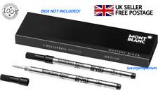 Mont Blanc Rollerball Black Ink Refill Cartridge x 2 - M 710 105158 Montblanc