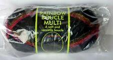 New Sensations Jo-Ann Fabrics Rainbow Boucle Multi Yarn Black #4011 621 yards