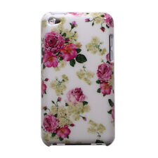 Pink Flower Rose Floral Pattern Design Hard Case Cover for iPod Touch 4 4th Gen