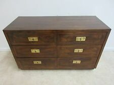 Henredon Oak Campaign Scene One Server Chest Double Dresser
