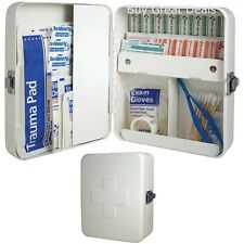 Wall Mount First Aid Kit Storage Box Empty Metal Home Office Health Treatments