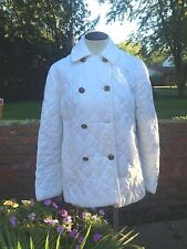 Vintage Quilted Double Breasted Coat/Jacket-White