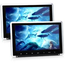 """2* 10.1"""" Auto Kopfstützen Monitor DVD Spieler USB 1080P Touchtasten 1024*600 IR"""