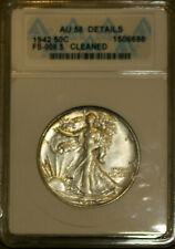 1942 50C Silver W. L. Half-dollar FS - 008.5 AU 58 Details ANACS 1506698 + Bonus