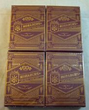 """Theory11 """"4 Lot: Monarchs Red & Gold Box"""" Playing cards decks Sealed!"""