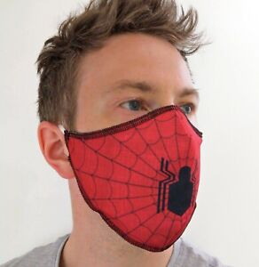 Spiderman face mask - double layer - ADULT & KIDS adjustable size - comfort fit