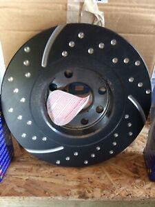 Lotus Elan M100 front drilled and vented brake disc,s and brake pads