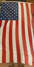 "Very Large Vintage USA 50 Stars Panel Stitched Flag 95"" x 57"""