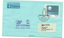 PORTUGAL: Aerogramme 14$00 TAP Air Portugal / used with First Day 1979 to BRD
