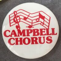 "Campbell Junior High School Flushing Queens Chorus Band Music 3"" Pinback Button"