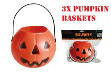 3x Caramelle Halloween ZUCCA CESTINO DOLCETTO O Scherzetto Borsa Sweet Child Costume da Spaventoso