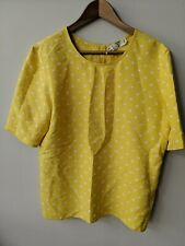 Vintage Valentino Miss V Silk Blouse Yellow Polka Dots