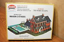 MODEL POWER TWO STORY BUILDING (house) N SCALE BUILDING KIT