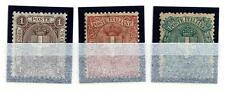 ITALIA - Regno - 1896/1897 - Stemma di Savoia - Tre valori