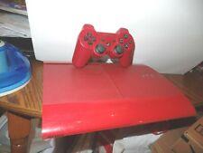 SONY Playstation 3 PS3 Super Slim 500GB Console GARNET RED +5 great games! GTA 5