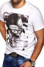 DIESEL Herren T-Shirt T-SHAVE Poloshirt Dunkelgrau/Weiß/Schwarz/Grau NEU