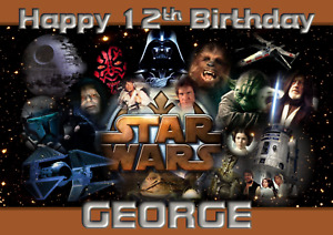 Star Wars - A5 Personalised Birthday Card - ANY Age Relation Name