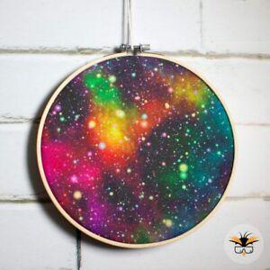 Rainbow Galaxy Enamel Pin Hoop Kit, Enamel Collection, Badge Display