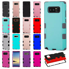 Samsung Galaxy Note 8 IMPACT TUFF HYBRID Protector Case Skin Cover +Screen Guard